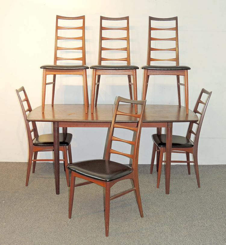 Danish Modern Teak 7-piece Dining Set