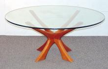 Illum Wikkelso Teak & Glass Coffee Table