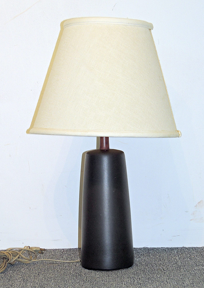 Martz Pottery and Teak Table Lamp