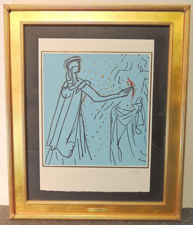 Salvador Dali Religious Theme Lithograph