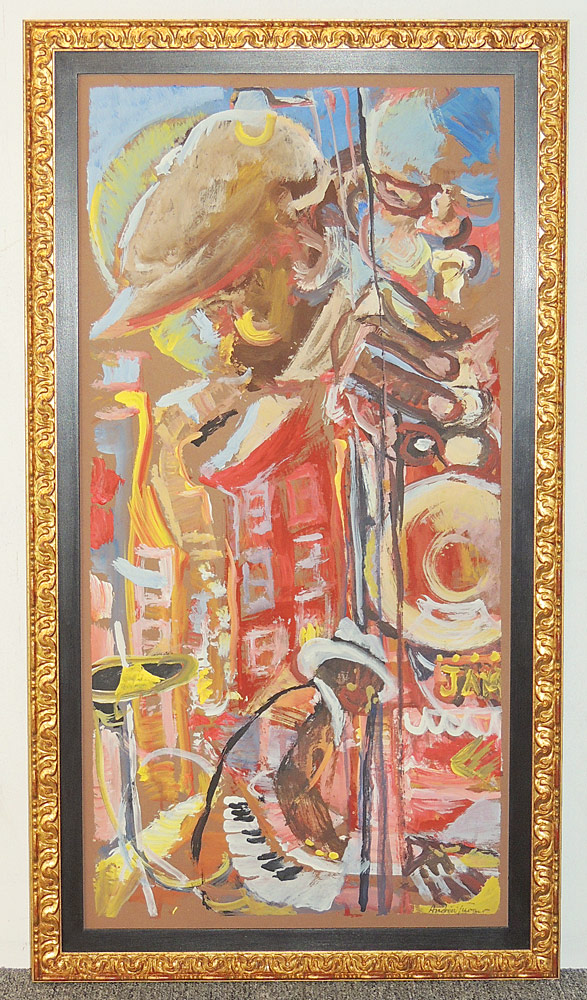 Andrew Turner Oil on Board, Jazz Musicians