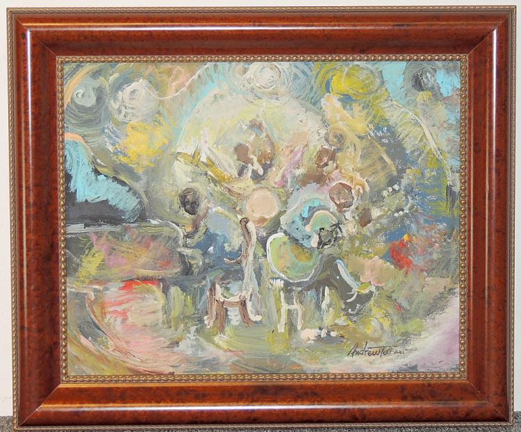 Andrew Turner Oil on Canvas, Jazz Musicians