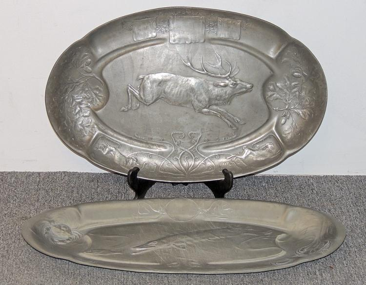 Two Kayzerzinn Pewter Platters