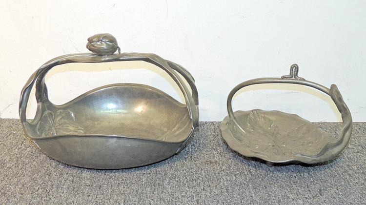 Two Kayserzinn Pewter Baskets