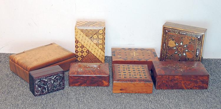 Collection of Eight Dresser Boxes