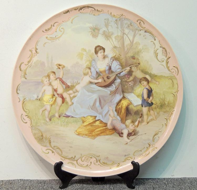 Large Royal Vienna Porcelain Plaque