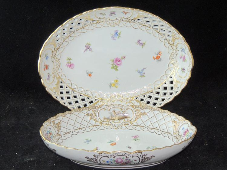 Two Meissen Porcelain Platters