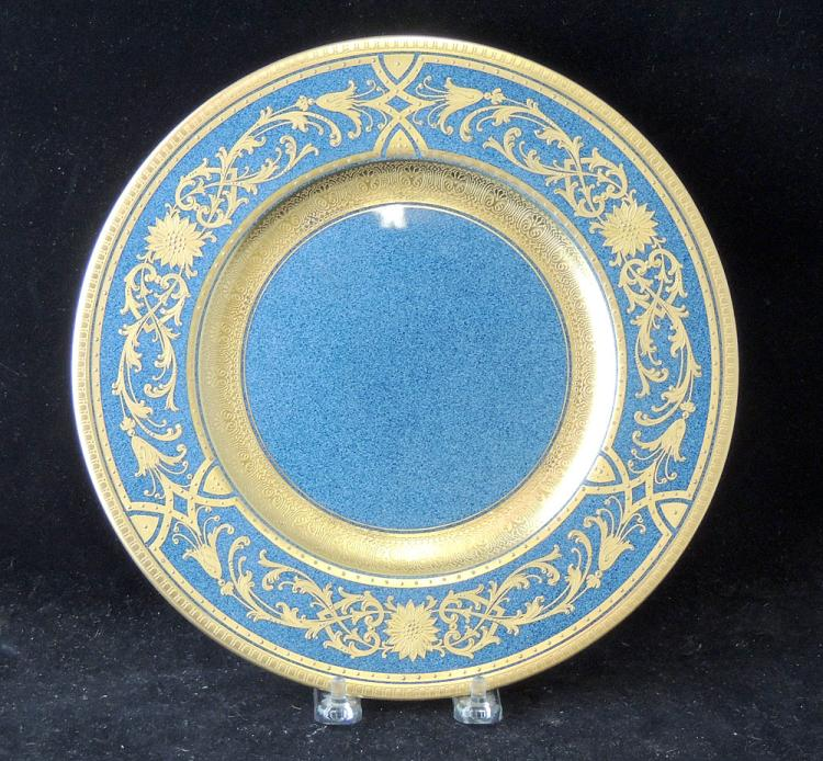 Eight Royal Worcester Porcelain Dinner Plates