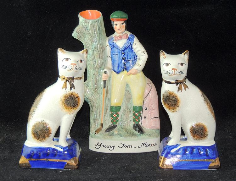Three Staffordshire Porcelain Figures