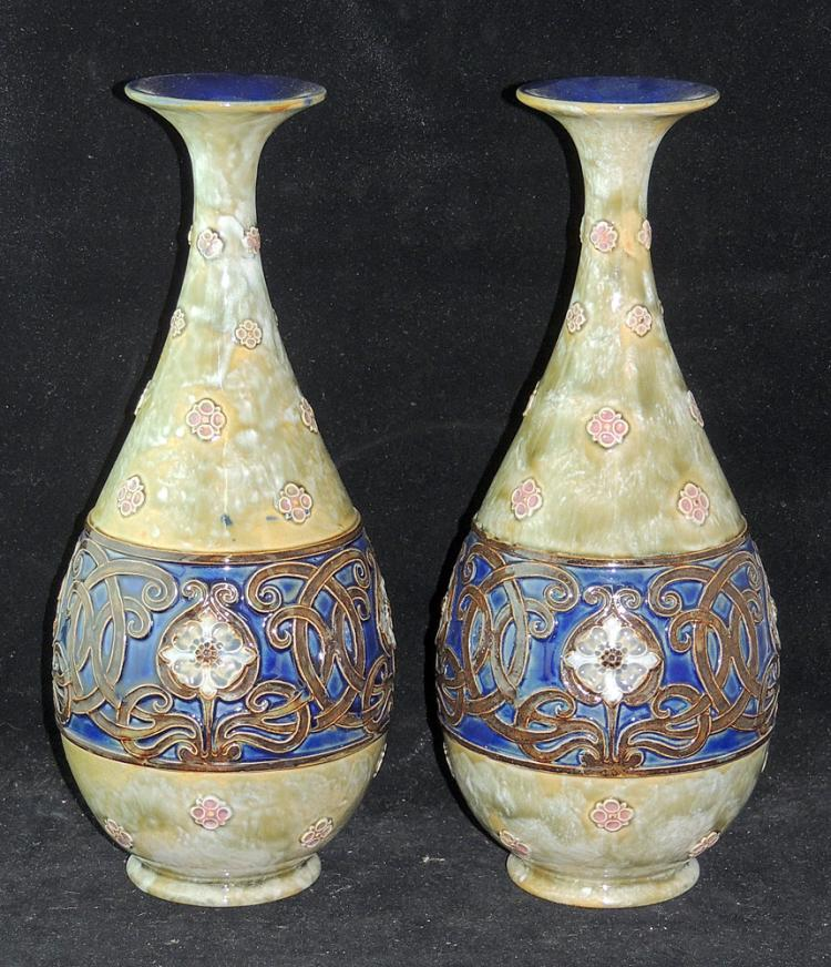 Pair of Royal Doulton Art Nouveau Vases