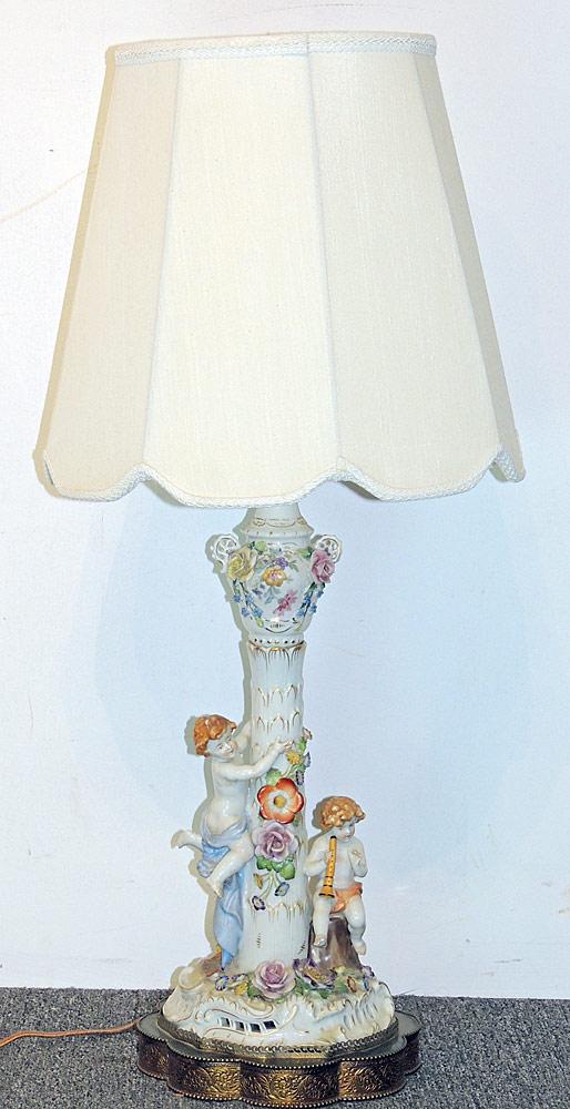 Continental Porcelain Figural Lamp
