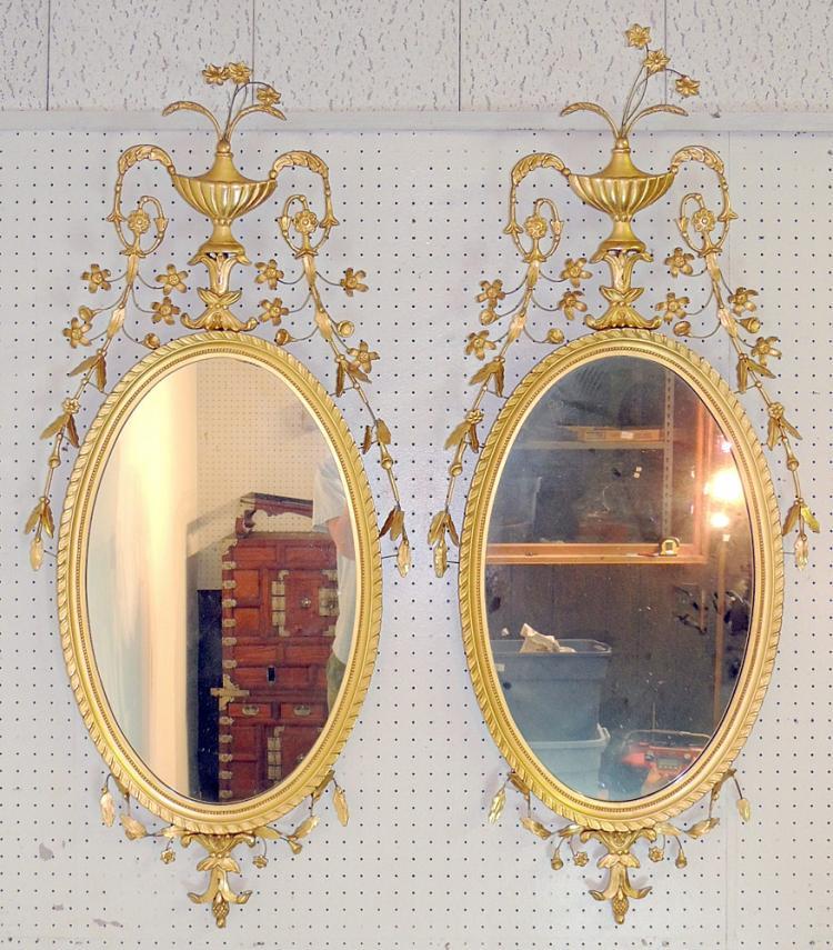 Pair of Friedman Brothers Williamsburg Mirrors
