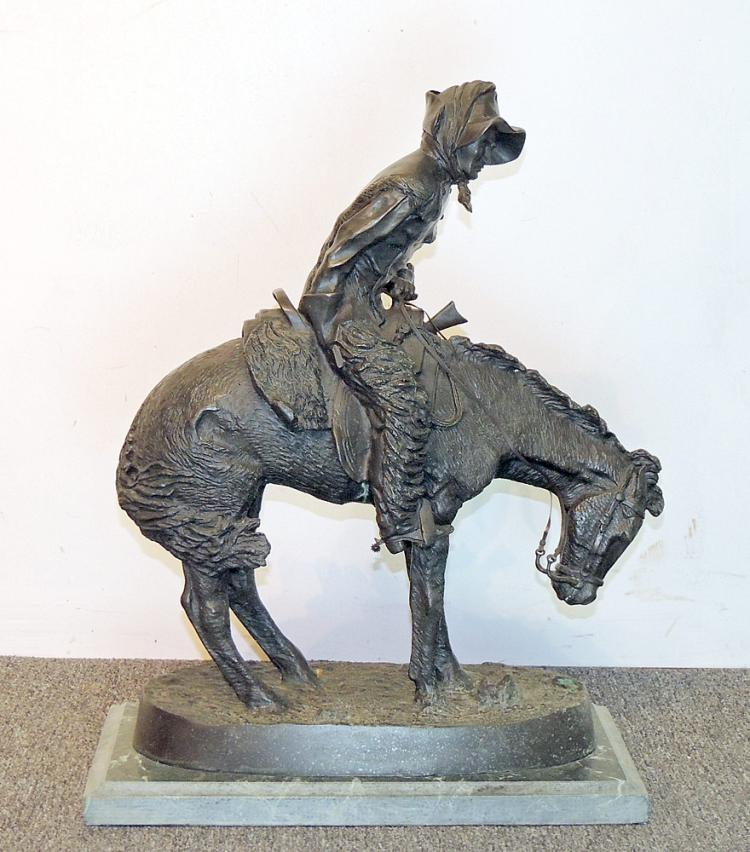 After Frederic Remington Bronze, The Norther