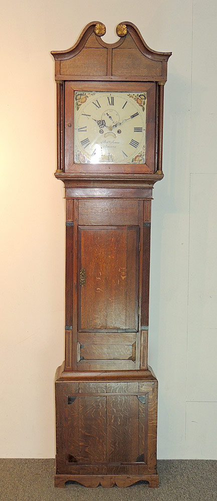 English Oak-case Tall Clock