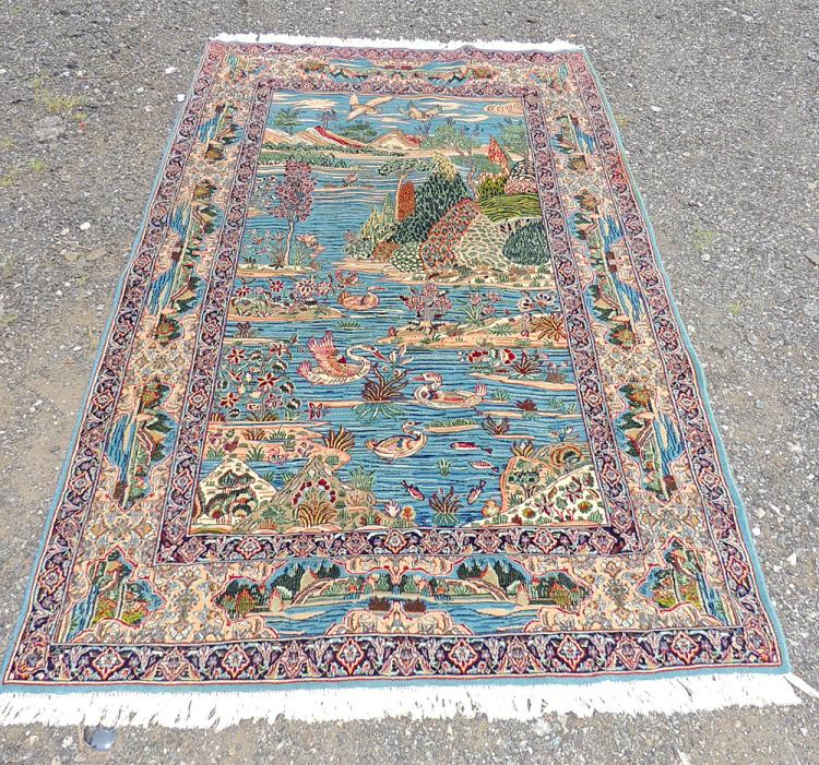 Persian Lake-scene Carpet