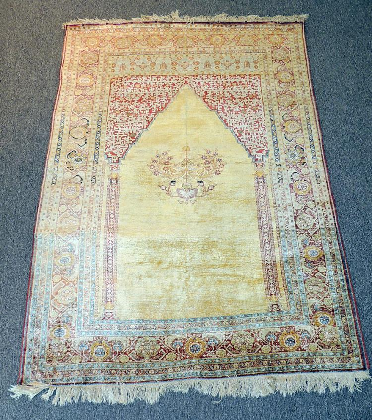 Tabriz Silk Prayer Carpet