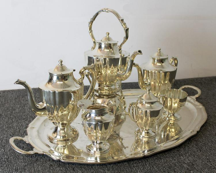 Juvento Lopez Reyes Sterling Coffee/Tea Service