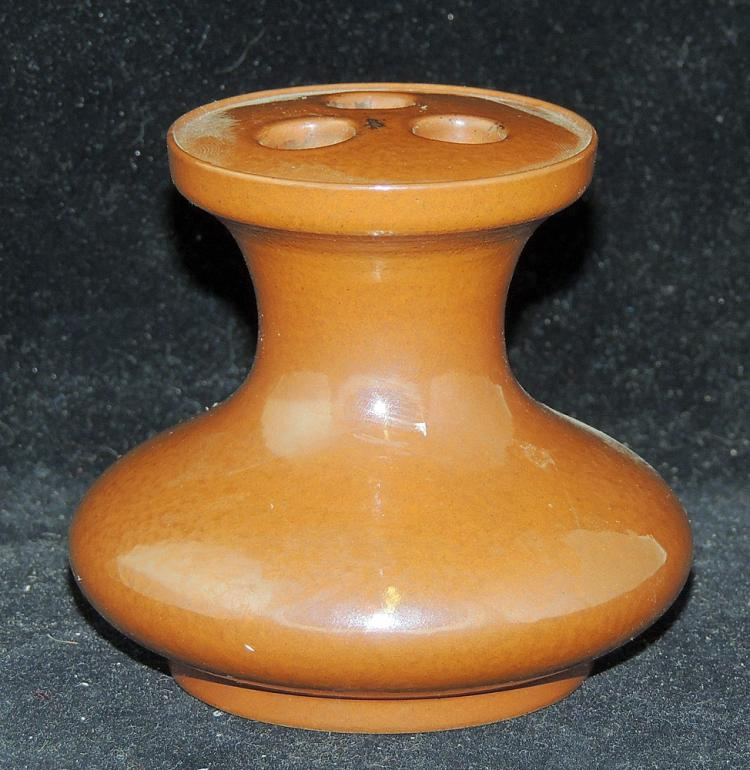 Chinese Porcelain Vase with Brown Glaze