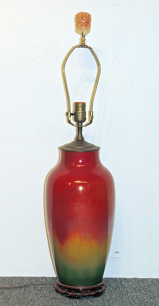 Asian Flambé-glazed Porcelain Table Lamp