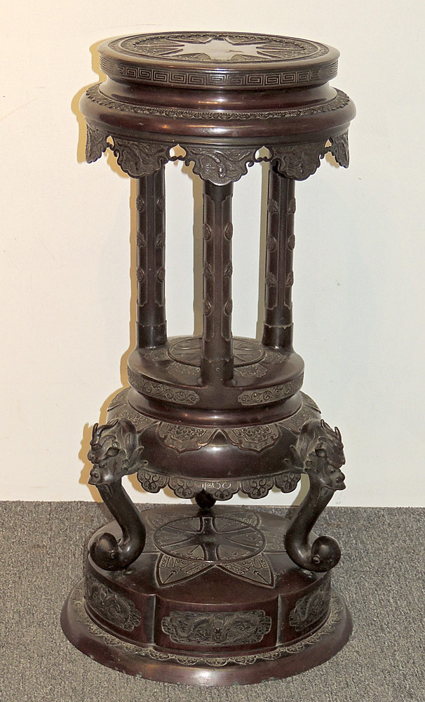 Asian Bronze Pedestal