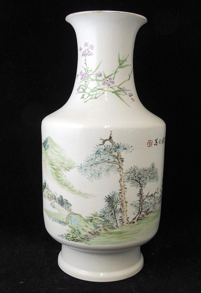 Chinese Porcelain Landscape Vase