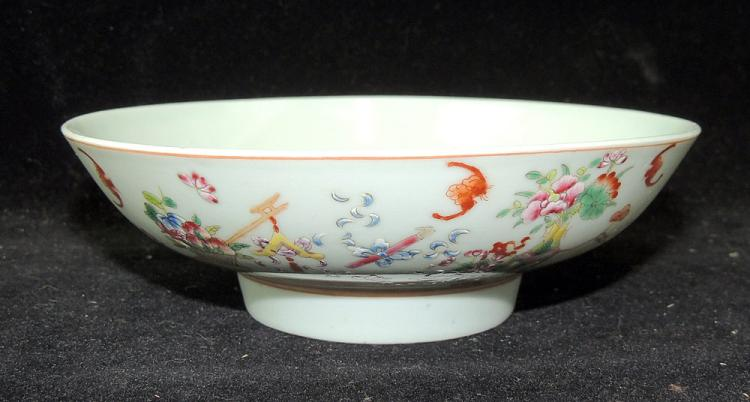 Chinese Enameled Porcelain Dish