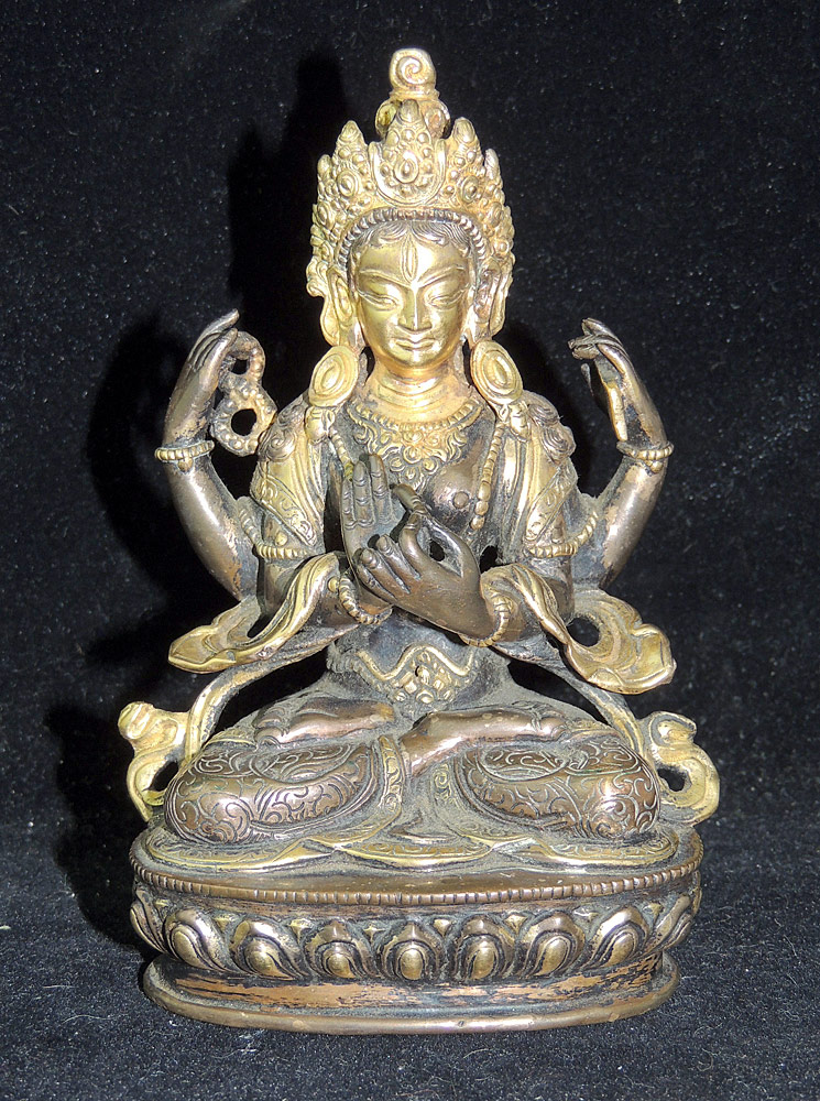 Gilt Bronze Compassion Buddha