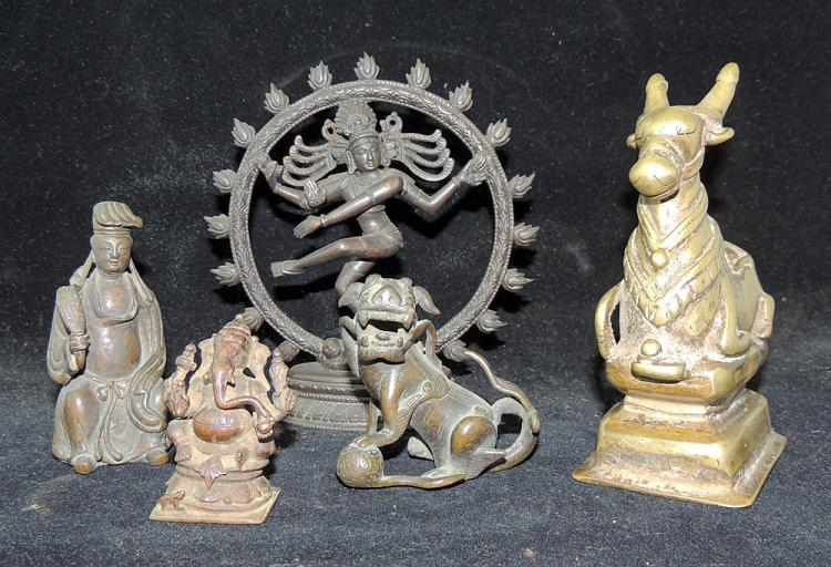 Grouping of Five Southeast Asian Bronzes