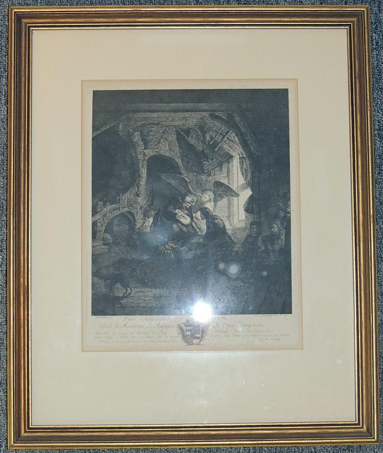 Antoine de Marcenay de Ghuy Religious Etching