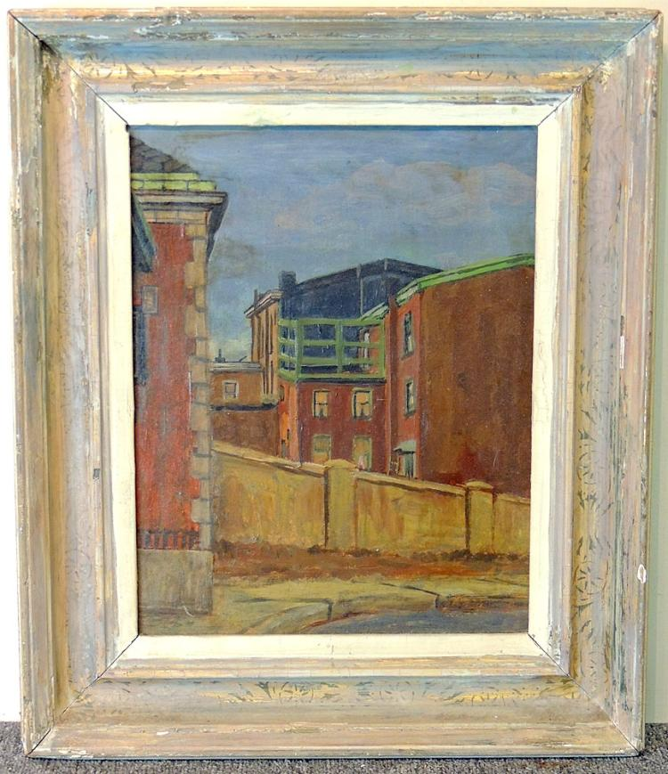 Robert Martin Oil on Board, Urban Landscape