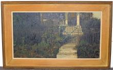 Robert Martin Oil on Canvas, Porch and Gate