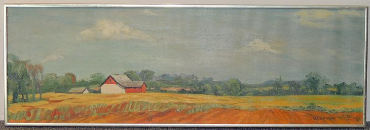 Robert Martin Oil on Canvas, Farm