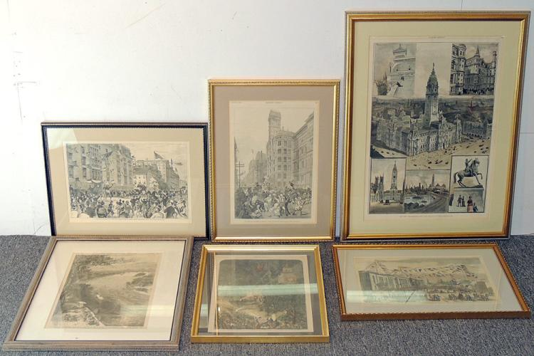 Six Philadelphia-Scene Prints