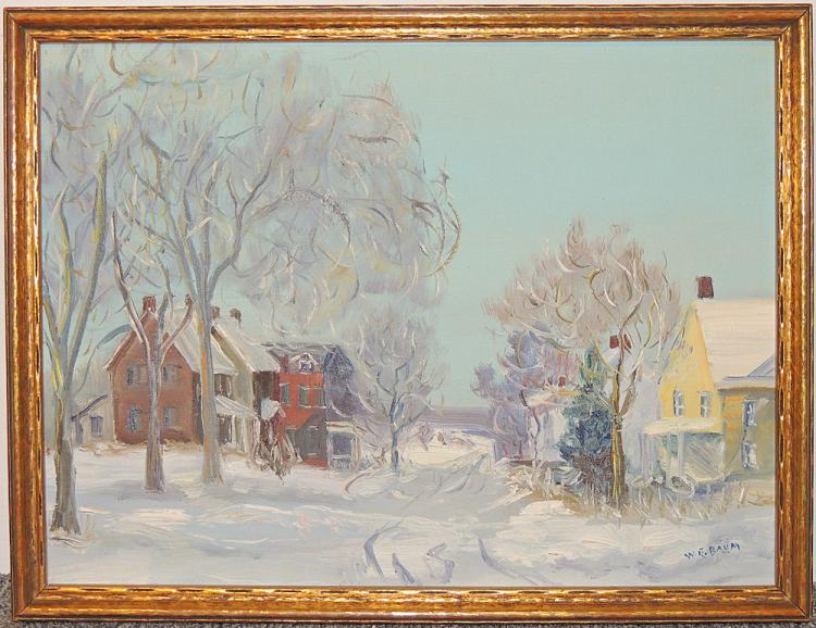 Walter Emerson Baum, Oil on Panel, Schwenksville