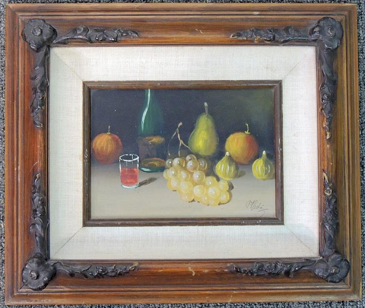 Peter Ruta Oil on Panel, Fruit Still Life