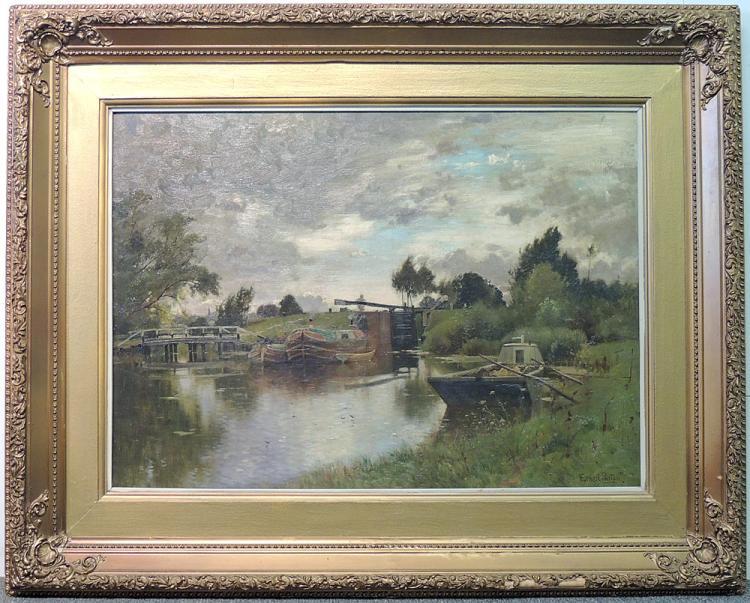 Ernest Parton Oil on Canvas, Landscape