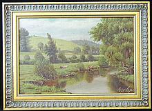 George Cope Oil on Panel, Landscape