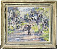 Alfred Aaron Wolmark Oil on Canvas, Landscape