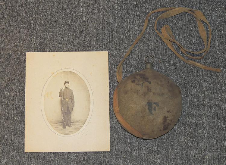 Civil War Canteen and Photograph