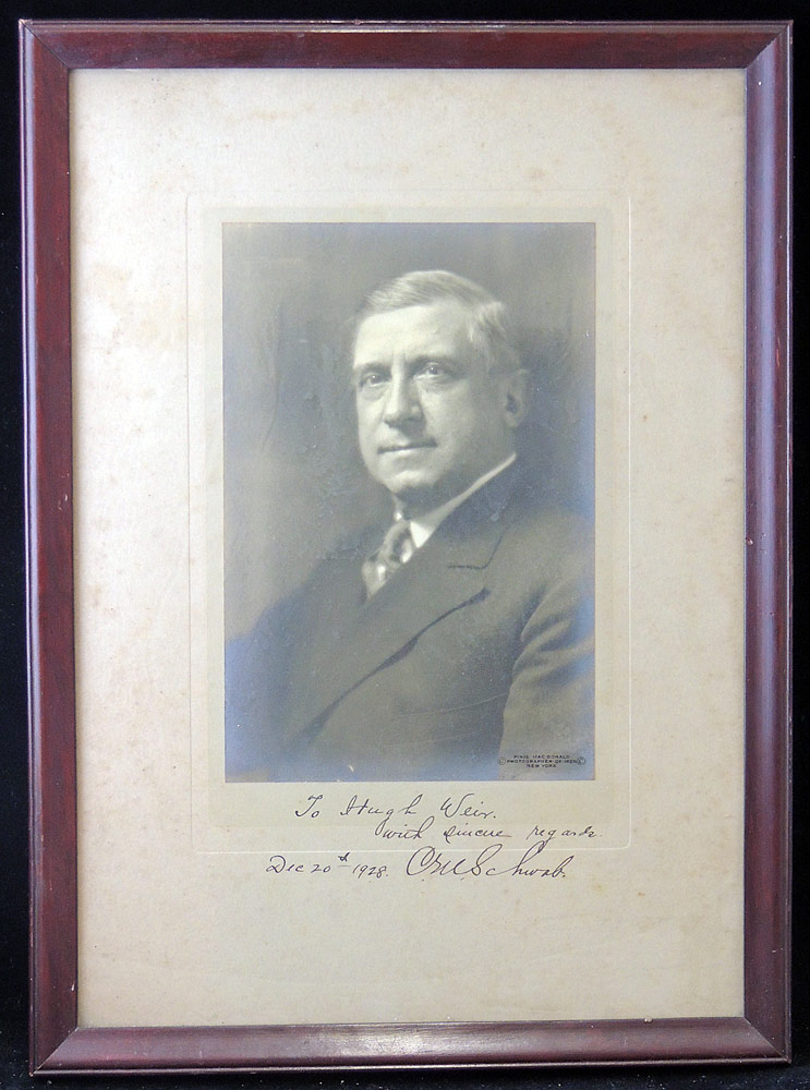 Autographed Charles Schwab Photograph