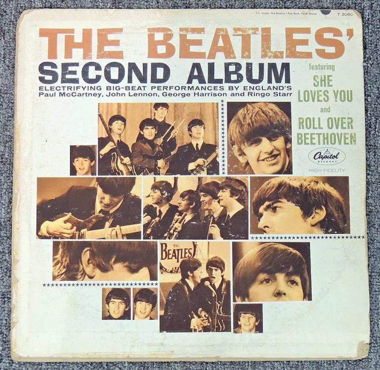 Autographed Beatles LP Record Jacket