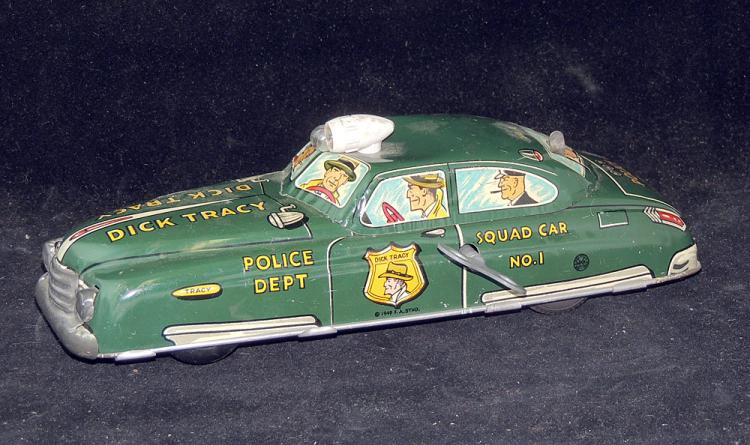 Marx Tin Litho Wind-Up Dick Tracy Squad Car