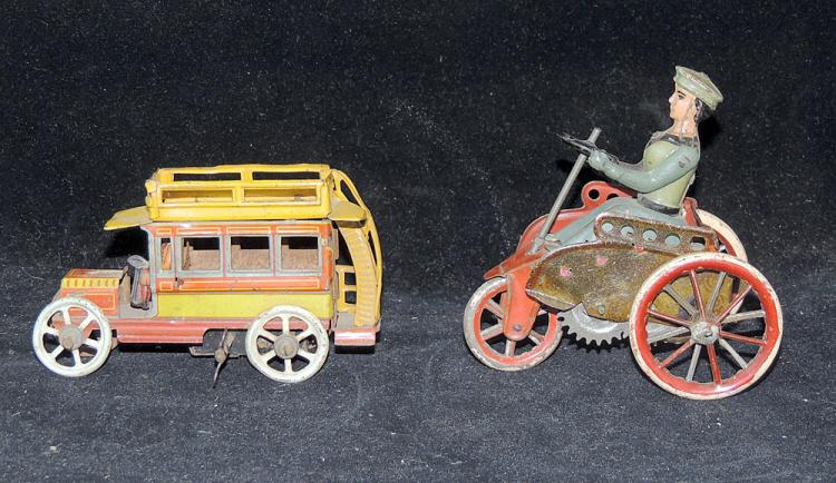 Two Tin Litho Wind-Up Toys