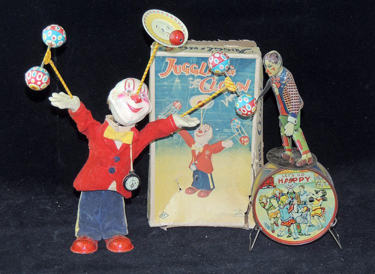 Two Japanese Clown Toys
