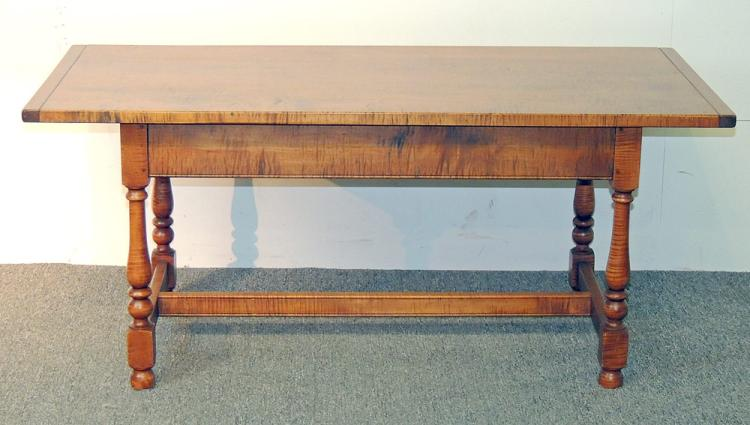 William & Mary-style Tiger Maple Coffee Table