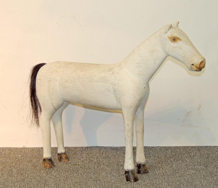 Folk Art Carved and Painted Horse