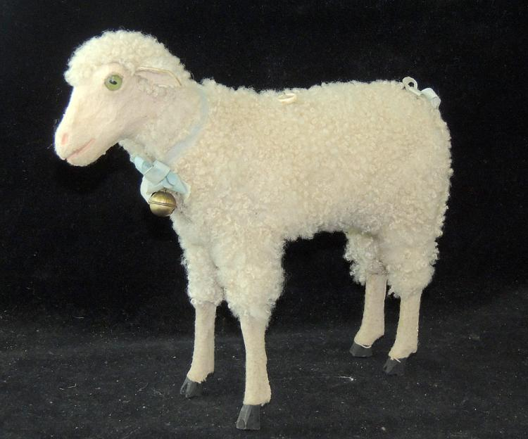 Wool-covered Bleating Sheep Candy Container