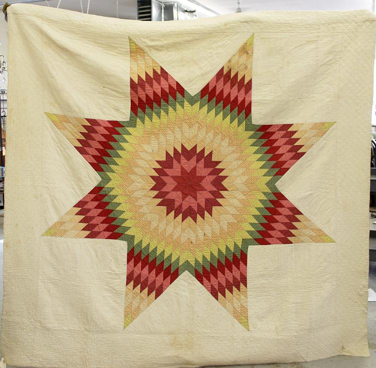 Pair of Star of Bethlehem Quilts