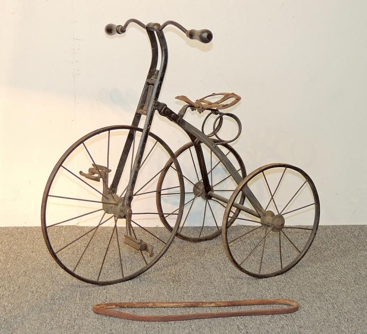 Antique Iron Velocipede Tricycle