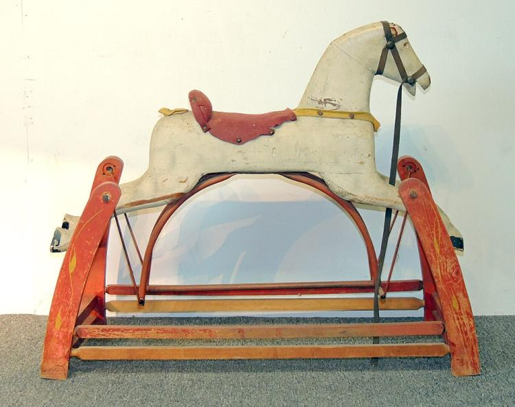19th C. Carved and Painted Hobby Horse